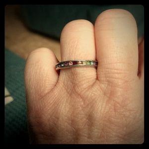 Sterling silver birthstones ring